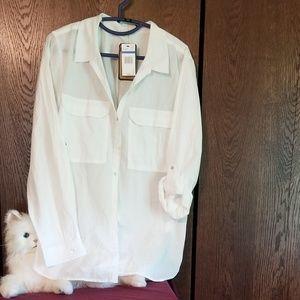 NWT Nine West Jean's white blouse